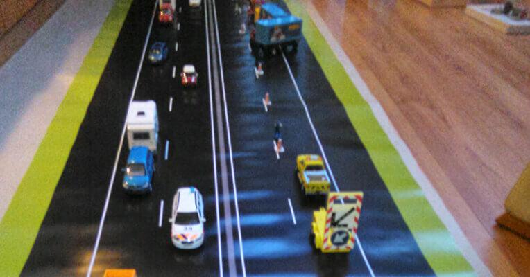 Incident management oefen snelweg